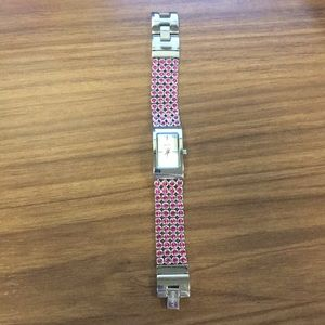 DKNY pink sparkle watch